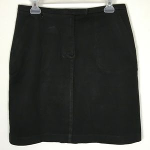 ANN TAYLOR STRETCH BLACK COTTON PENCIL SKIRT